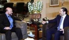الجمهورية: اللقاء الأخير بين الحريري بوزير والرياشي دخل ببحث التفاصيل والترشيحات