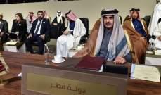 أمير قطر يبرق للسبسي بعد مغادرته القمة العربية في تونس