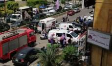 النشرة: عدد من الجرحى بإنفجار سخان مياه عند حلويات السلطان بالضاحية