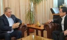 دبور شكر سفير اليابان على دعم بلاده لمساعدة الفلسطينيين وإعادة تأهيل حي الطيرة