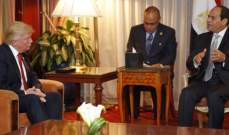 السيسي وترامب يبحثان هاتفيا تعزيز العلاقات الثنائية وتطورات الشرق الأوسط