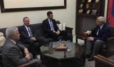 طوني فرنجية يلتقي السفير الروسي في لبنان