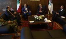 الصراف أجرى مع سفير إسبانيا جولة أفق تناولت الأوضاع العامة بلبنان والمنطقة