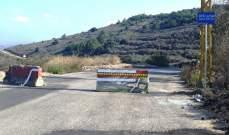 إتحاد بلديات الجومة وضع حاجزا اسمنتيا لمنع مرور الشاحنات على طريق بينو- دير جنين