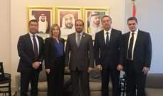 الطبش بحثت مع سفير الامارات العلاقات الثنائية بين البلدين