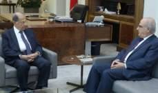 الرئيس عون استقبل رئيس المجلس الدستوري عصام سليمان