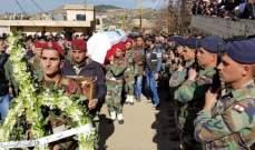 وصول جثمان الجندي الشهيد خالد خليل إلى مسقط رأسه في مشمش