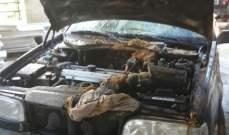 إخماد حريق داخل سيارة في نابيه بالمتن