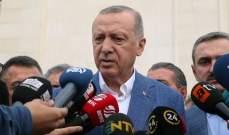 أردوغان: نأمل أن يحل الأمن والسلام في هذه المنطقة في أقرب وقت ممكن