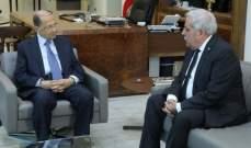 الرئيس عون عرض الاوضاع العامة مع النائب السابق فيصل الداوود