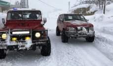 الدفاع المدني: سحب سبع شاحنات احتجزت على طريق ترشيش- زحلة بسبب الثلوج