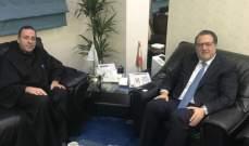 شقير التقى مدير المعهد الفني الانطوني وعرض معه الوضع في لبنان