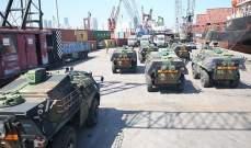 الجيش تسلم كمية من العتاد العسكري هبة من السلطات الفرنسية