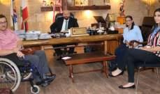"""نهرا أكد لوفد """"منتدى حقوق ذوي الإعاقة"""" دعمه الكامل لحملة """"إحترم حقي بالتنقل"""""""