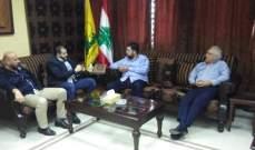 مسؤول حزب الله بصيدا إستقبل رؤساء بلديتي بقسطا والبرامية