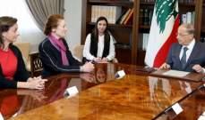 الرئيس عون: التقديمات اللبنانية للنازحين كبدت الدولة خسائر كبيرة