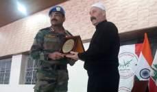 الكتيبة الهندية تدشن مشروع استكمال بناء خيمة من القرميد في الفرديس