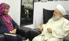 حمود بحث مع رئيسة البعثة الفرعية للصليب الاحمر بجنوب لبنان الاوضاع الامنية بالمنطقة ولبنان