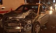 النشرة:رجل يفقد السيطرة على سيارته ويصطدم بعدد من السيارات على طريق المتن