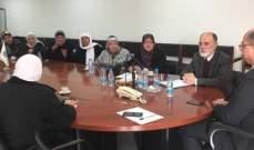 اللقيس استقبل وفداً من لجنة المساهمين والمودعين في تعاونيات لبنان