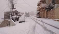النشرة: استمرار تساقط الثلوج بحاصبيا وارتفاع منسوب مياه الحاصباني لأعلى معدلاته