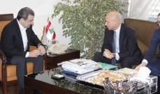 أبو فاعور عرض العلاقات الثنائية مع السفير الايطالي