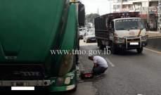 حركة المرور خانقة من اللويزة باتجاه الكحالة وصولا إلى عاليه بسبب تعطل شاحنة