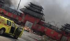الدفاع المدني في دبي أخمد حريقا في برج قيد الإنشاء من 40 طابقا