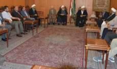 قبلان بحث مع رئيس بلدية اليمونة موضوع النزاع القائم مع بلدية العاقورة