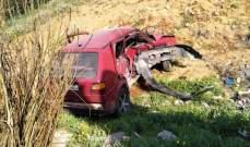 الدفاع المدني: جريح إثر تعرضه لحادث سير عند مفترق بلدة حوشبا - البقاع