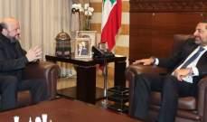 الرياشي:الحريري متفائل ويعمل على قدم وساق على تشكيل الحكومة بالرغم من المطبات