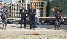 ريفي وضع اكليلا من الزهر على ضريح اللواء وسام الحسن