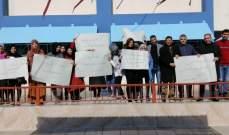 """اعتصام لموظفي """"الأونروا"""" في صور للمطالبة بحقوقهم وتحسين رواتبهم"""