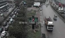 حركة المرور طبيعية على البربير وكثيفة من جسر البيجو والضبية حتى الكرنتينا