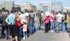 انسحاب العسكريين المتقاعدين من امام السراي للتجمع امام خيمة الشهداء