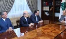 الرئيس عون عرض مع شقير وطربيه الأوضاع الإقتصادية والمالية في البلاد