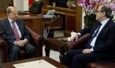 الرئيس عون استقبل الوزير السابق جهاد أزعور