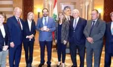 الحريري عرض للمستجدات مع وفد فرنسي والتقى رئيسة مكتب الدفاع في المحكمة الخاصة بلبنان