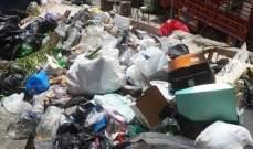 النشرة:النفايات تغزو الشوارع بالنبطية والأهالي يقفلون المكبات العشوائية