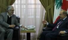 الناشف التقى الخطيب بحث الأوضاع العامة واستحقاق الانتخابات