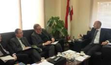 وزير البيئة بعد لقائه دوكين:3 اولويات لدى سيدر الكهرباء والمياه ومعالجة النفايات