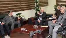 جبق يستقبل ممثلة المفوضية العليا لشؤون اللاجئين ونواب تكتل لعلبك الهرمل