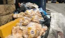 اليازا: الرصيف مقفل مقابل قصر عدل بعبدا امام المشاة لصالح كمية كبيرة من ربطات الخبز
