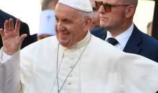 البابا فرنسيس: الشرق الاوسط بدون مسيحيين لن يعود هو نفسه
