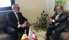 عميد الخارجية بالقومي بحث مع سفير بلجيكا عودة النازحين الى بيوتهم