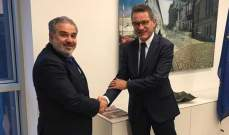 """عميد الخارجية في """"القومي السوري"""" التقى سفير ألمانيا في لبنان"""