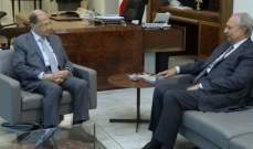 الرئيس عون استقبل الصفدي في قصر بعبدا