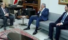 الرئيس عون عرض مع ارسلان والغريب شؤون النازحين والأوضاع العامة