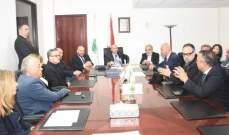 وزير البيئة يستقبل وفدا من نقابة الوسطاء العقاريين ورئيس بلدية جونية