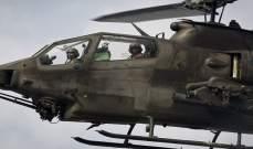 اعلام اسرائيل:تحطم طائرة هليكوبتر عسكرية بمستوطنة بيت شيميش قرب القدس